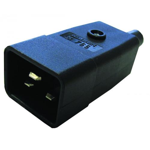 CMW Ltd  | IEC-C20 Black Rewirable Male Plug Black