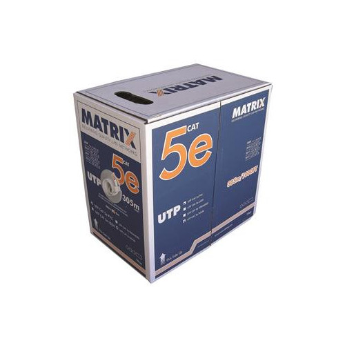 CMW Ltd  | Cat5e 24AWG Solid U/UTP Eca PVC Cable 305m Box Grey - Matrix