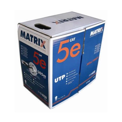 CMW Ltd  | Cat5e 24AWG Solid U/UTP External Grade PE Cable 305m Box Black - Matrix (305m Box)