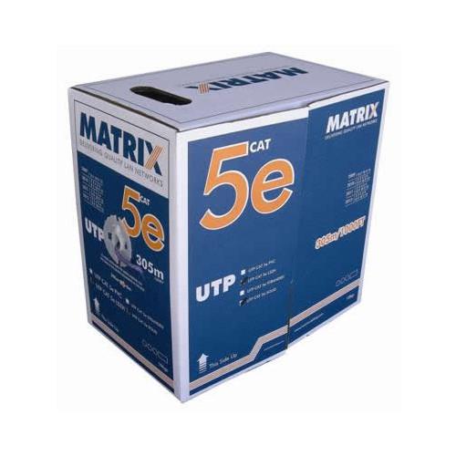 CMW Ltd    Cat5e 24AWG Solid U/UTP Eca LSOH 305m Box Violet Cable  - Matrix (305m Box)
