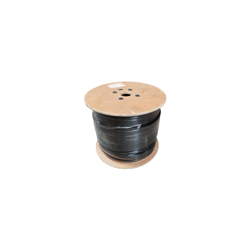 Cat5e 24AWG Solid Shielded F/UTP External Grade PE 305m Reel Black - Matrix (Each)