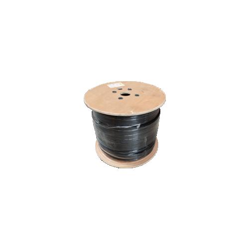 CMW Ltd  | Cat5e 24AWG Solid Shielded F/UTP External Grade PE 305m Reel Black - Matrix
