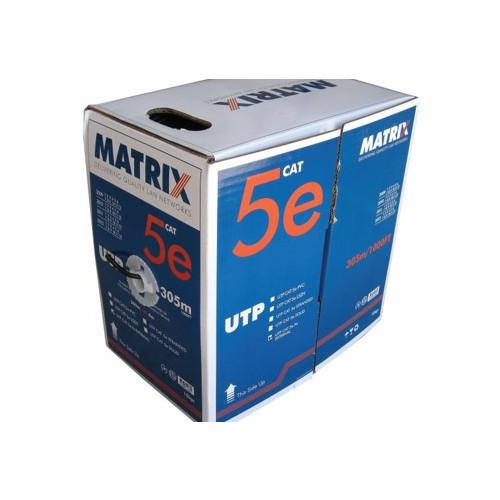 Matrix Cat5e F/UTP Orange Shielded LS0H 305m Box (Each)