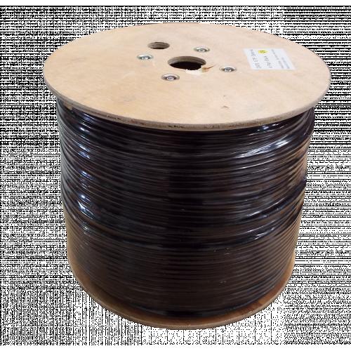 CMW Ltd  | Cat6 23AWG Solid U/UTP External Grade PE Cable 500m Reel Black - Matrix (500 Metre)