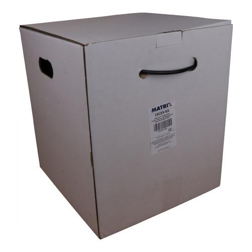 CMW Ltd  | Cat6 23AWG Solid U/UTP External Grade PE Cable 305m box Black - Matrix