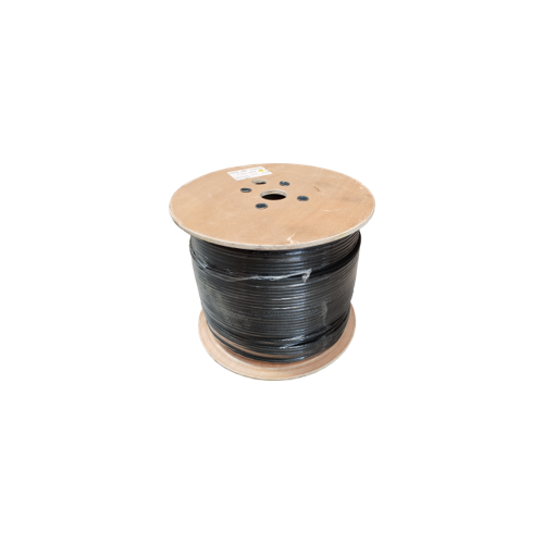 Cat6 23AWG Solid U/UTP SWA Armoured Cable CUT TO LENGTH Black - Matrix (p/mtr)