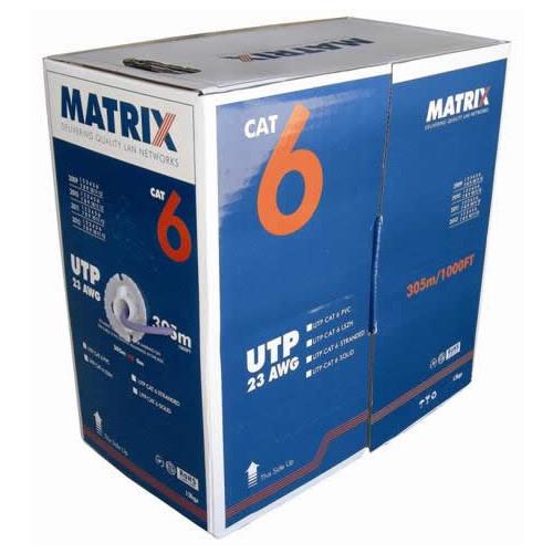CMW Ltd  | Cat6 Solid U/UTP B2ca LSOH 305m Box Violet Cable - Matrix (305m Box)