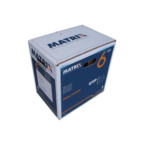 CMW Ltd  | Cat6 23AWG Solid U/UTP Eca PVC Cable 305m Box Grey - Matrix