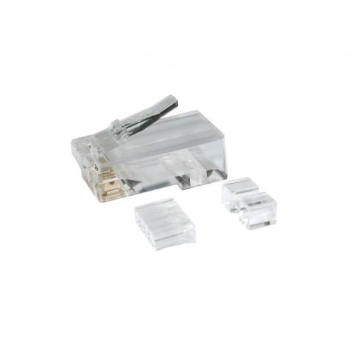 Cat6 Unshielded Universal 3 Part RJ45 Crimp Plugs (Each)