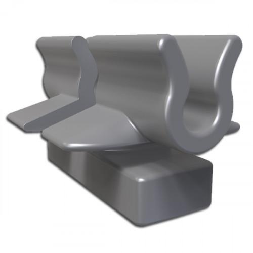 Grey 4mm Basket Tray Clips
