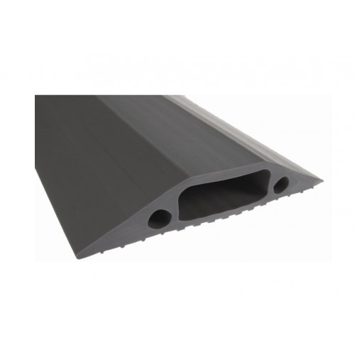 Grey Cable Cover   Hole Size: 30 x 10mm (3m lgth)