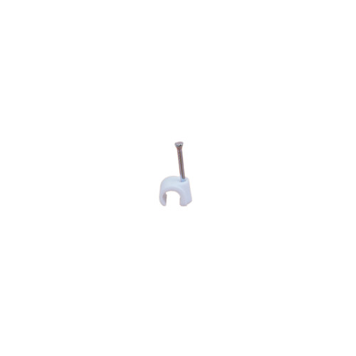 White 9.0mm Round Cable Clips (Box of 100)