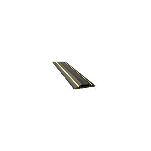 1.8m Black / Yellow Cavity 30 x 10mm (1.8m lgth)