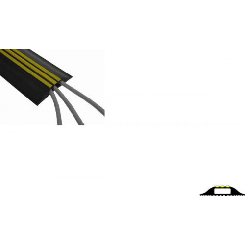 Hazard Striped Cable Cover (3m lgth)