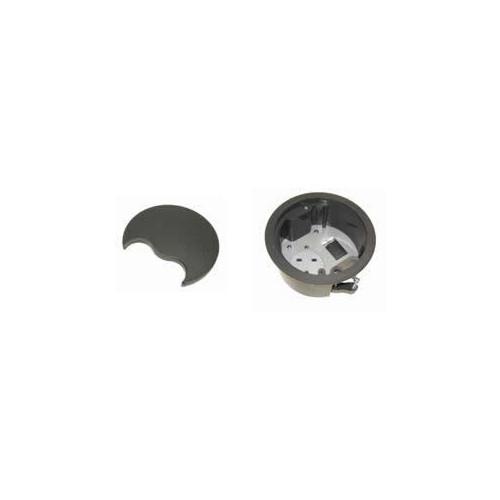 CMW Ltd, Desk Cable Management PG002G | Grey Grommet with 1 x Power & 1 Data
