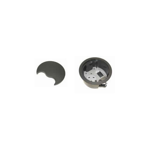 CMW Ltd, Desk Cable Management PG002G   Grey Grommet with 1 x Power & 1 Data