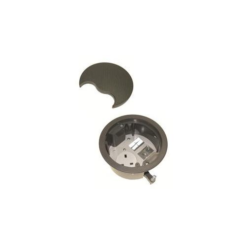 CMW Ltd, Desk Cable Management PG002G | Grommet with 1 x Power & 2 Data