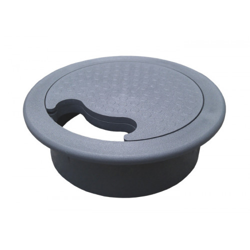 FGG75 CMW Ltd, Desk Cable Management | 80mm Grey Circular Cable Desk Grommet