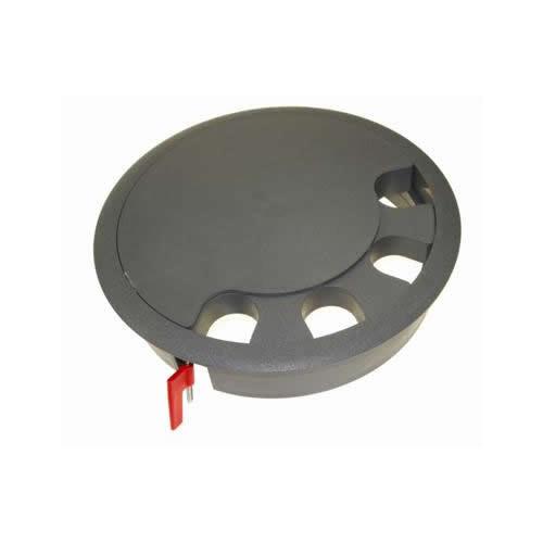CMW Ltd, Floor Cable Grommets FGG209 | Grey Floor Grommet Circular 209mm Cut Out