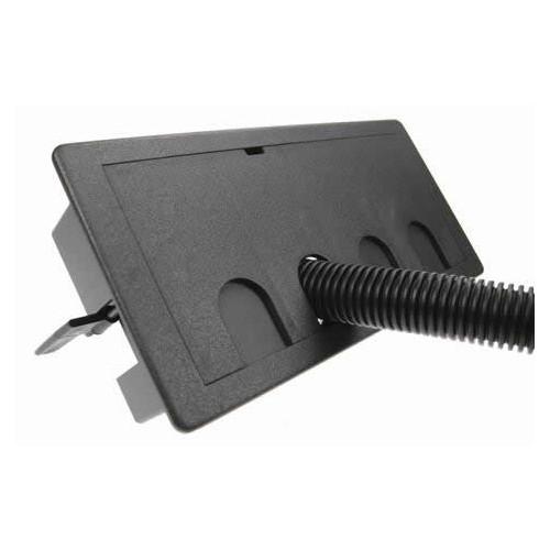 Black Rectangular Cable Grommet 206 x 91mm Cut Out (Each)
