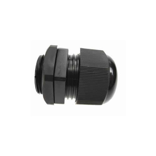 25mm Black Nylon Dome Top IP68 Cable Gland 13-18mm (Each)