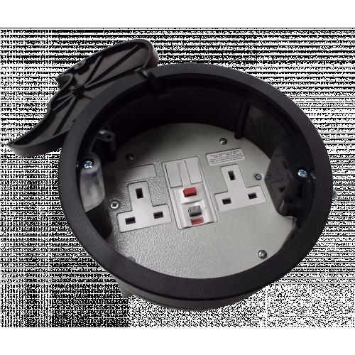 CMW Ltd, Desk Cable Management FGB169P   Black 13A RCD Twin Switched Grommet