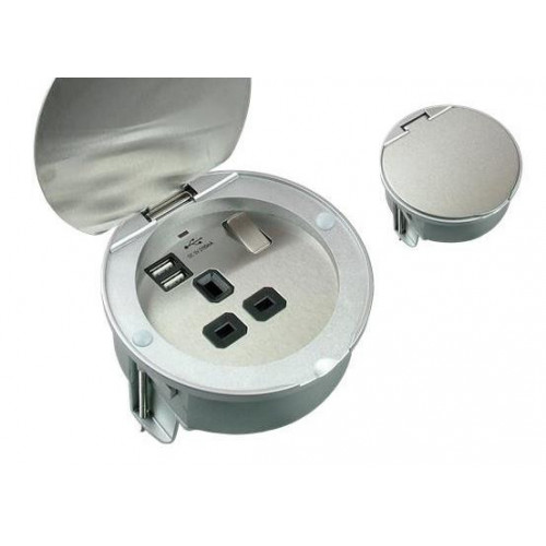 PGS114USB  | Stainless Steel Grommet with USB