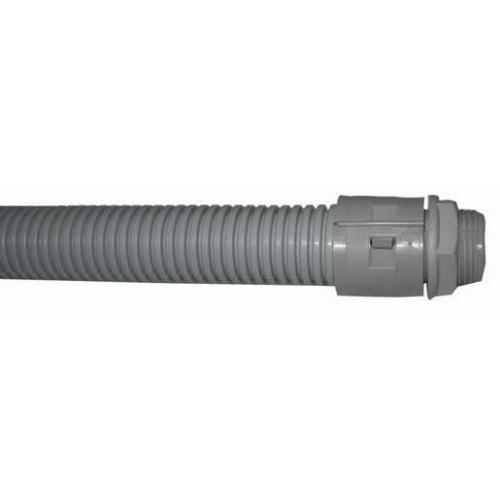 CMW Ltd  | Conduit Flexible Corrugated 2 Gland Kit + Locknut LSOH Grey 3Mtr x 25mm