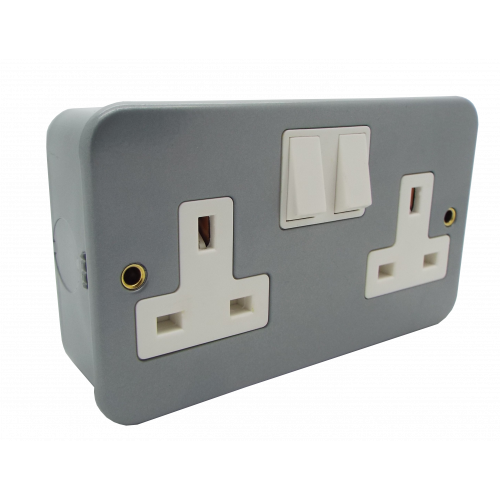 CMW Ltd CL036 | 13a 2 Gang DP Switched Socket Outlet