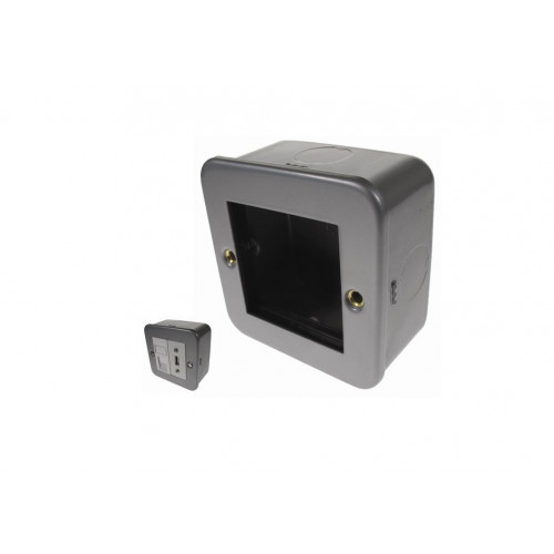Single Gang Metal Surface Media Box (Each)