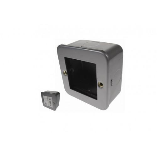CMW Ltd CL311   Single Gang Metal Surface Media Box