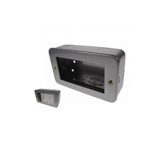 Double Gang Metal Surface Media Box (Each)