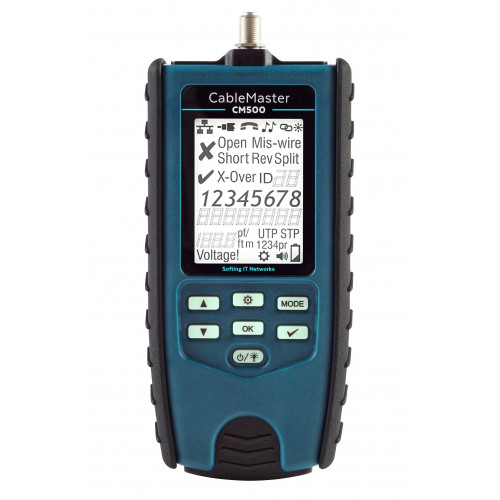 CMW Ltd    Softing CM500 CableMaster 500  RJ45 Cable Tester and Fault Locator