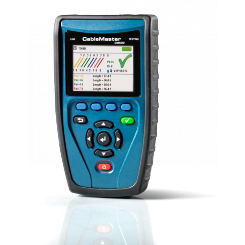 Softing CM600 CableMaster 600  RJ45 POE+ Voice-Data-Video (VDV) Cable Tester (Each)