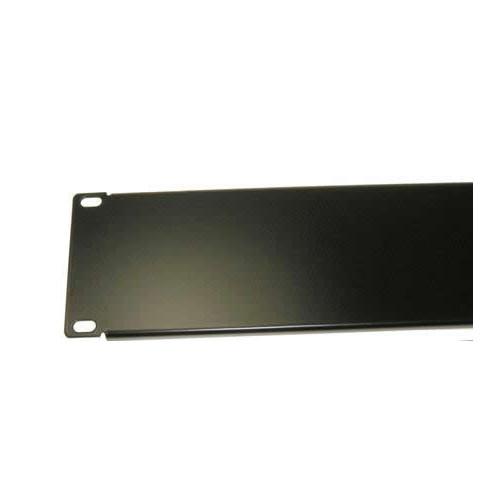 4U 19 inch Blanking Panel with Return Flange - Black (Each)