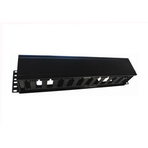 CMW Ltd Matrix   2U 70mm Deep Black Plastic Slotted Finger Panel - Black