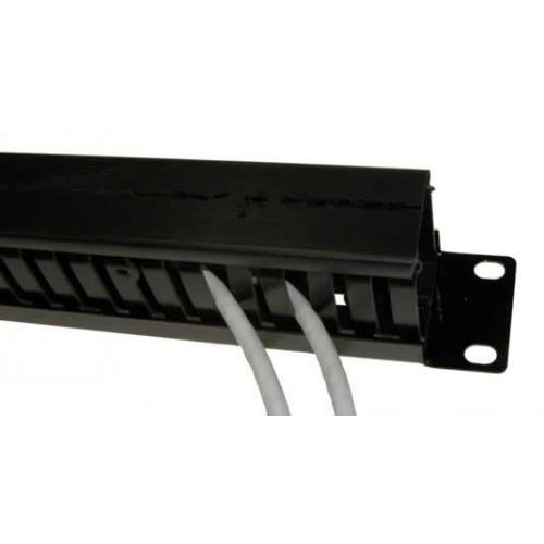 CMW Ltd Matrix   1u Plastic Cable Management Dump Panel  54mm Deep Black