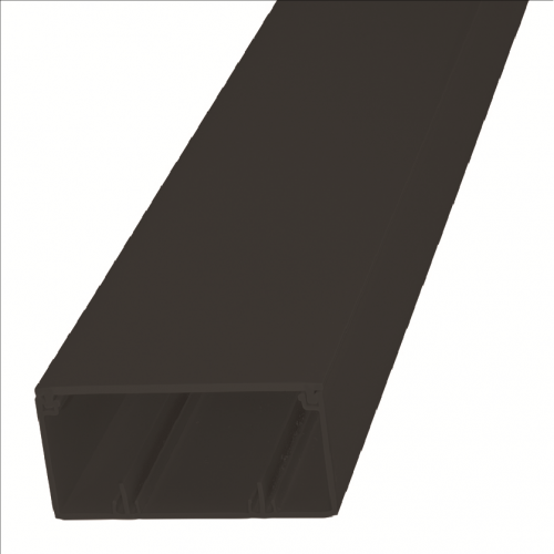 CMW Ltd, Algar Plastic Cable Trunking | Black 100mm x 50mm PVC Maxi Trunking, 3m length