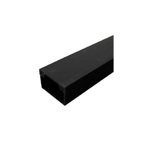 CMW Ltd, Algar Plastic Cable Trunking | Black Mini Trunking 25mm x 16mm Trunking ( 1m length )
