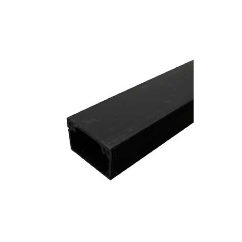 CMW Ltd, Algar Plastic Cable Trunking | Black Mini Trunking 25mm x 16mm Trunking ( 1m length )