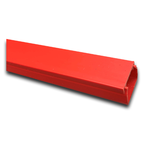 Red 25mm x 16mm Mini Trunking 3m length (3m lgth)