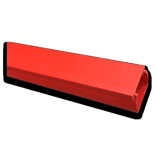 Red 25mm x 16mm Mini Trunking 3m length (3m lgth)