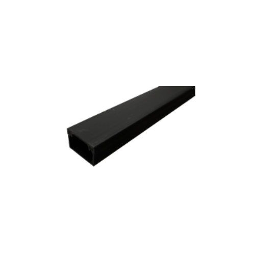 Black 38mm x 25mm Mini Trunking 3m length (3m lgth)