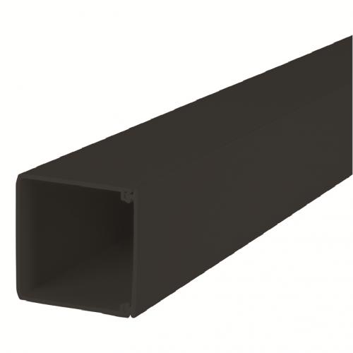 CMW Ltd, Algar Plastic Cable Trunking | Black 100mm x 100mm, PVC Maxi Trunking, 3m length
