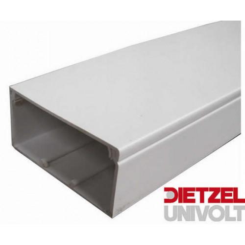 CMW Ltd  | Dietzel Univolt 75mm wide x 50mm high PVC White Maxi Trunking (3m lgth)