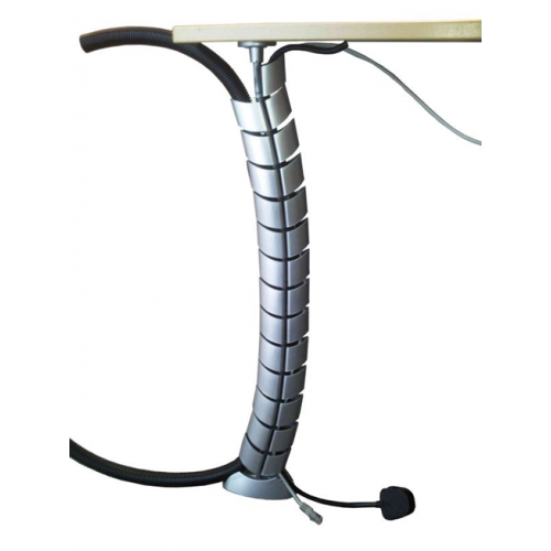 CMW Ltd Desk Cable Management | Two Compartment under Desk Cable Spine 740mm - Silver