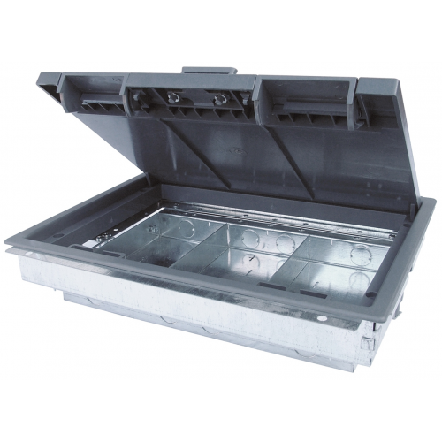 3 Compartment Shallow Floor Box 303mm x 221mm 64mm depth (Each)