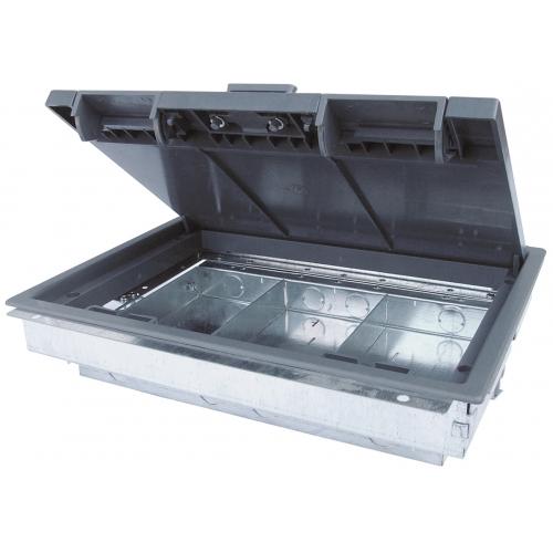 TASS TFB3/64 | 3 Compartment Shallow Cavity Floor Box 303mm x 221mm 64mm depth