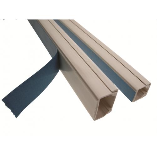 Univolt MIKA 16/16 2/15   Univolt 16mm x 16mm Self-adhesive PVC Mini Trunking 2m (2m lgth)