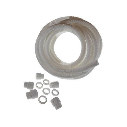 CMW Ltd  | Precut White 20mm x 10m Length LSOH PP Flexible Conduit Kit c/w 10 x Gland and Lock Nut